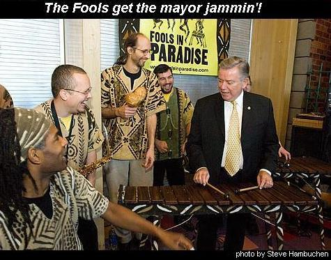 Fools In Paradise with Mayor Tom Potter, at the Children's Museum, May 2006